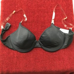 Invisible Strap Black Bra